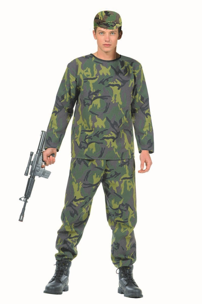 77054 Camouflage Army Costume Teen