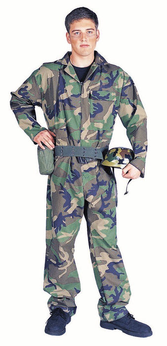 Camouflage Commando Costume with Helmet