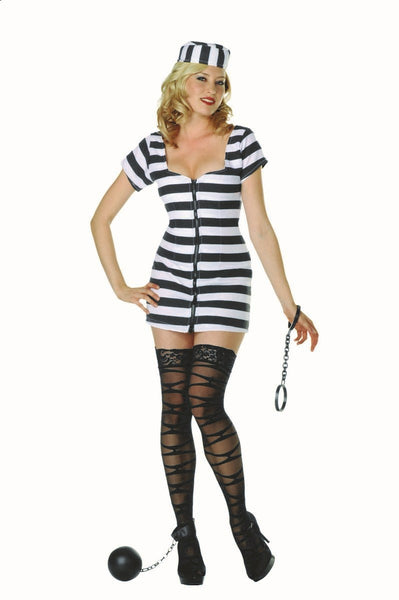 81408 Jail Bait Sexy Inmate Costume