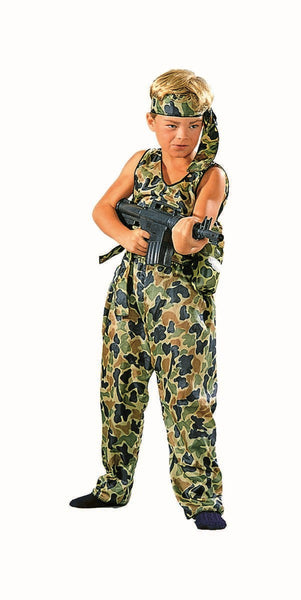 90008 Jungle Fighter Soldier Costume Child