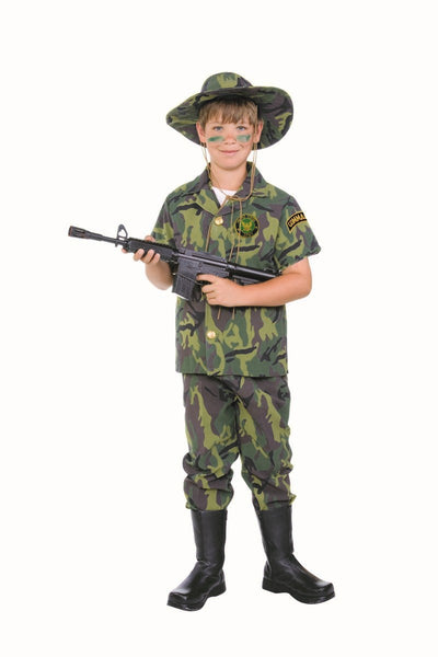 90366 Jungle Commando Army Costume Child