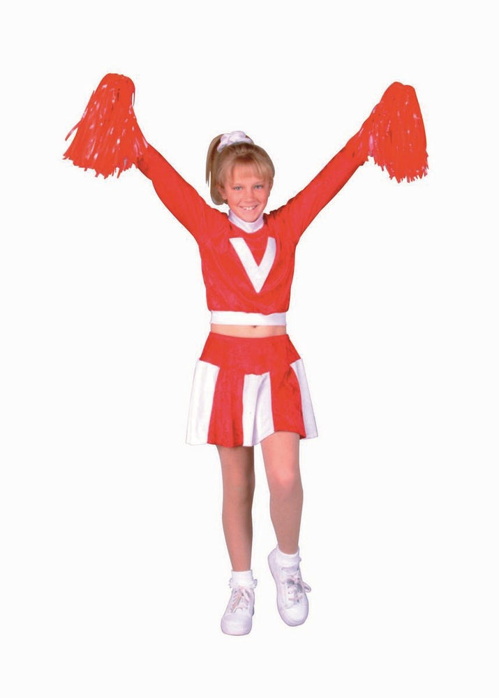 91135 Girls Cheerleader Red Child Costume