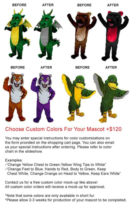 Green Parrot Mascot Costume (Thermolite)