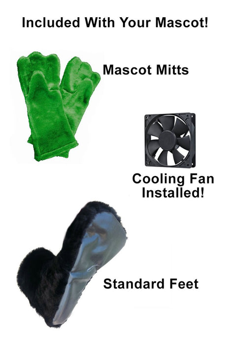 Cartoon Panther Mascot Costume (Thermolite)