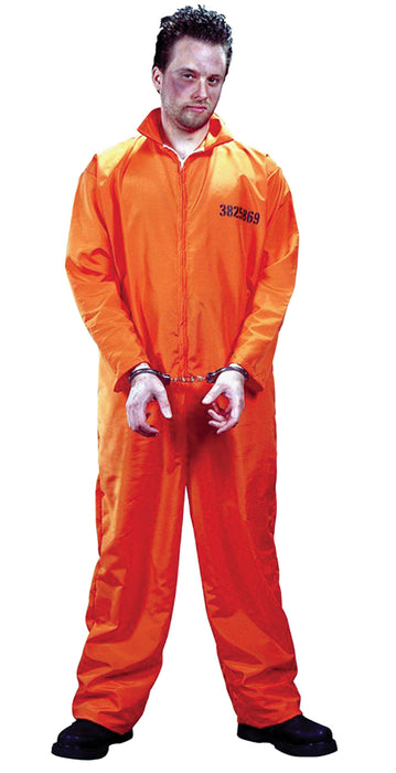 Got Busted Jumpsuit-orange