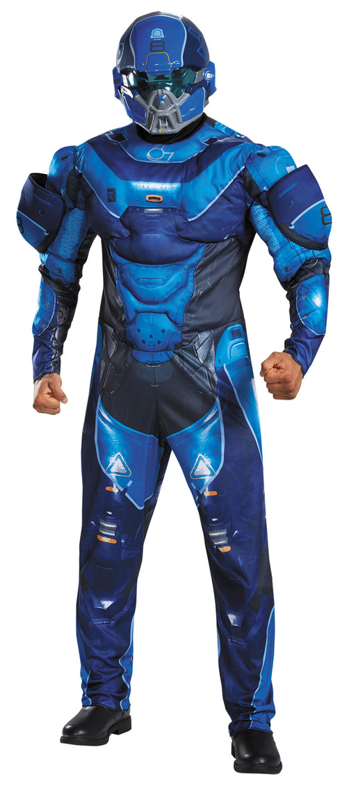 Blue Spartan Muscl Adult 50-52
