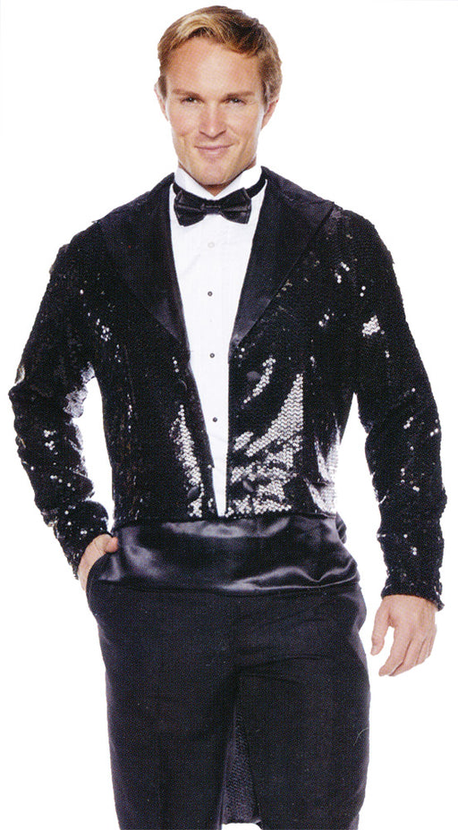 Sequin Tails Jacket Black
