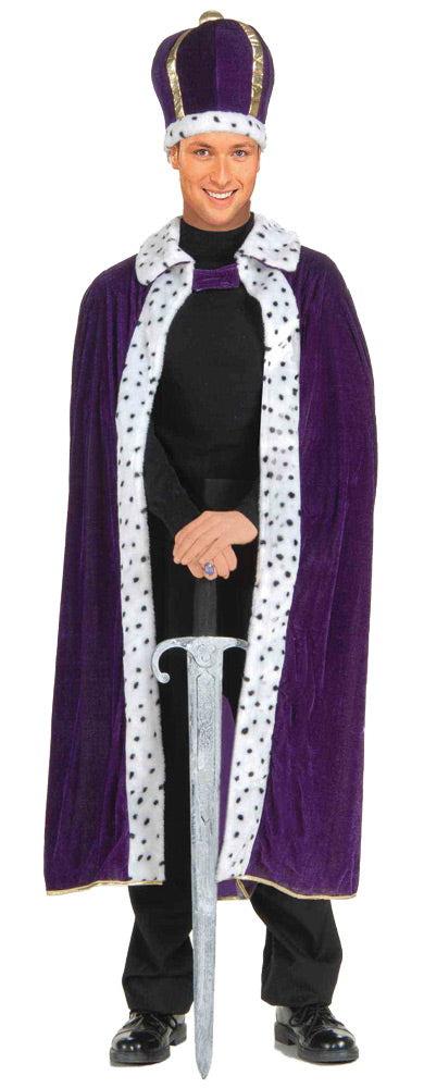 King Robe-crown Set Purple