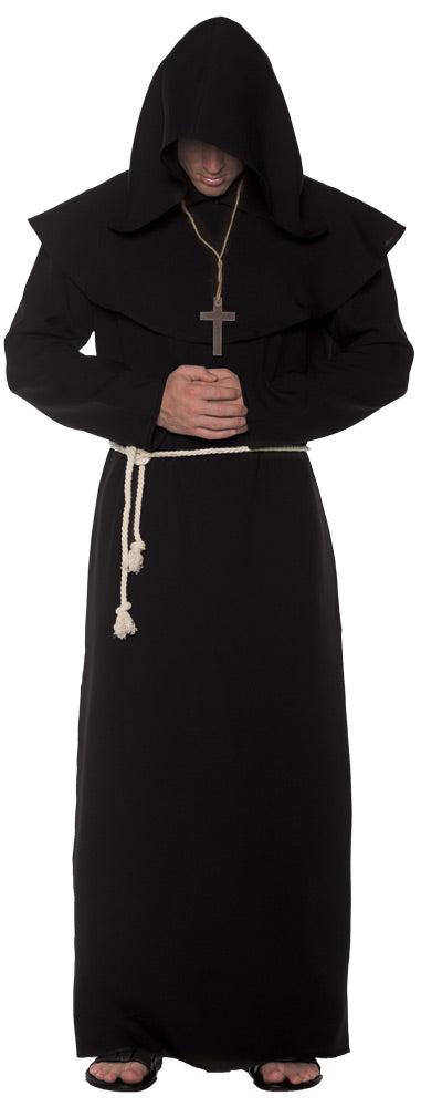 Monk Robe Costume Black XXL