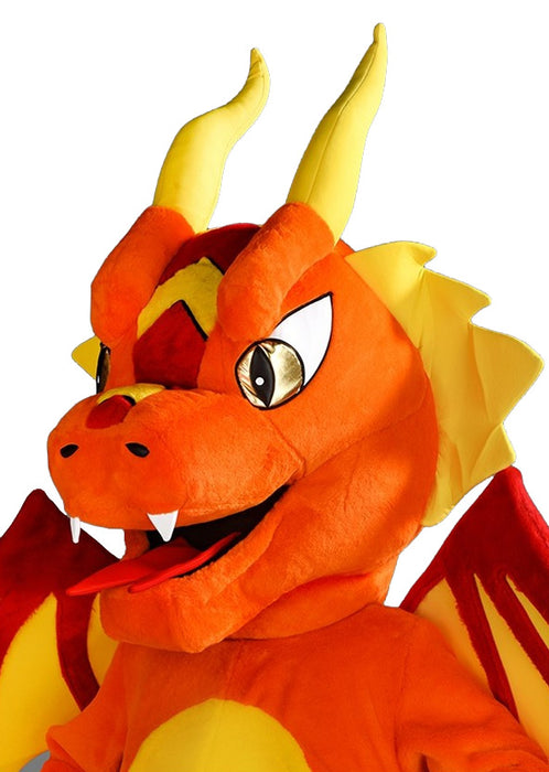 Orange Dragon Mascot