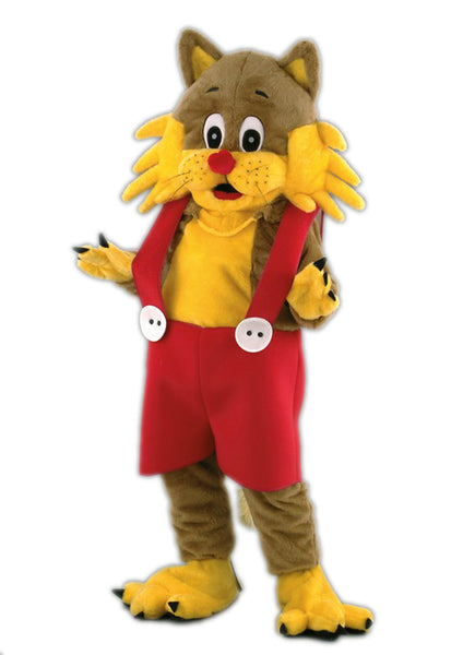 124B Cartoon Cat Costume Mascot
