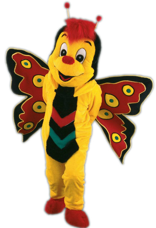 Yellow Butterfly Mascot Costumes 132C1