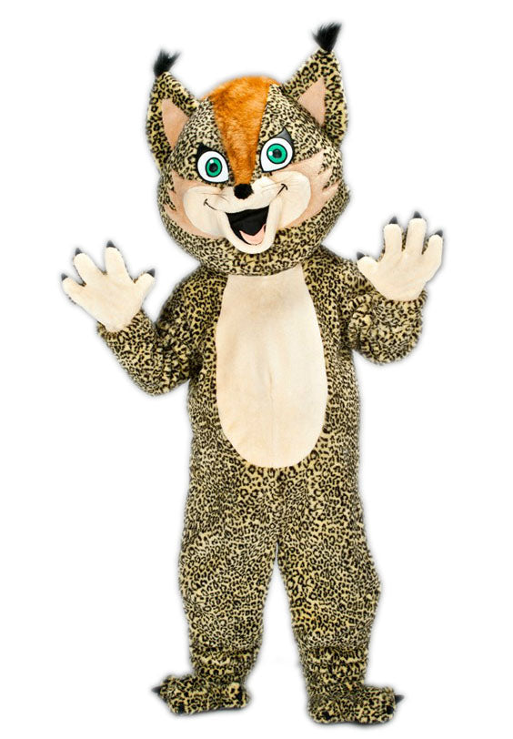 201A Leopard Kitty Mascot Costume