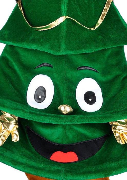 Cartoon Christmas Tree Mascot Costume