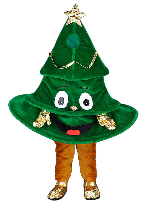 220N Cartoon Christmas Tree Mascot Costume