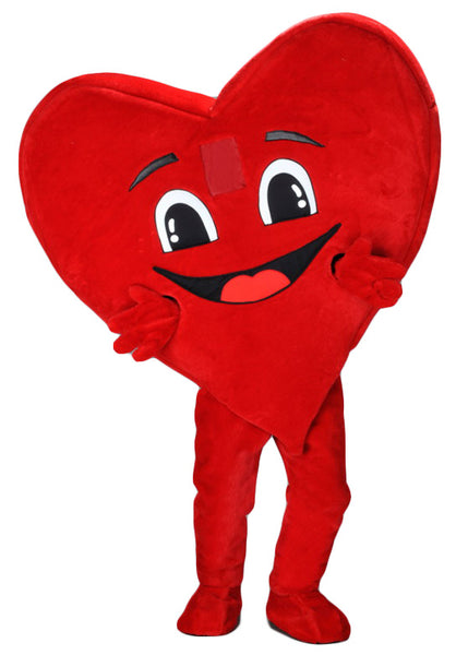 222H Happy Heart Mascot Costume