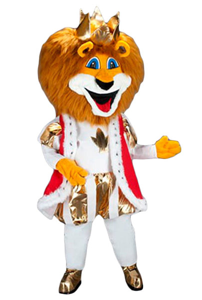 236B1 Royal Gold Lion Mascot