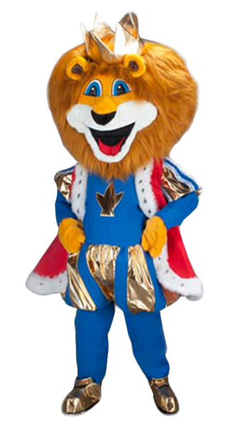 236B2 Royal Blue Lion Mascot