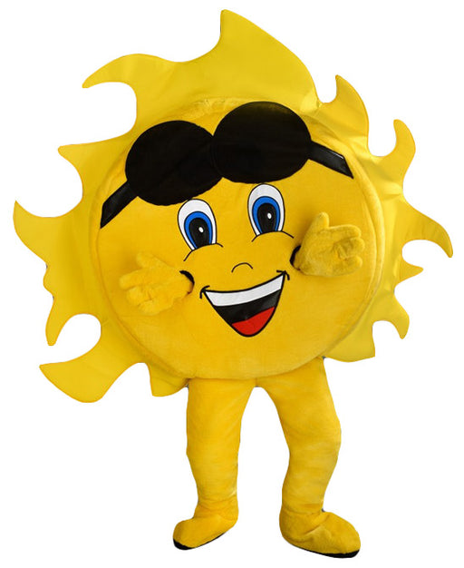243B Sun with Sunglasses Mascot Costume