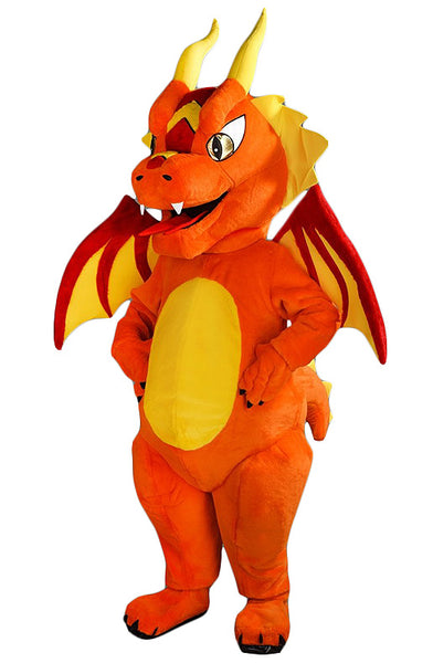 244C Orange Dragon Mascot