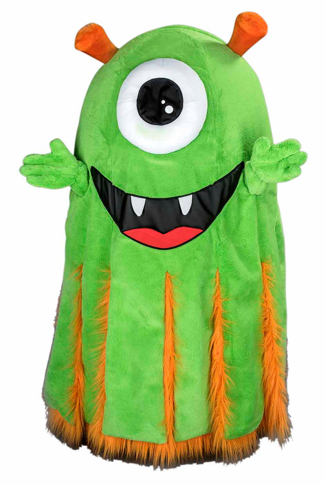254D Green Alien Mascot Costume