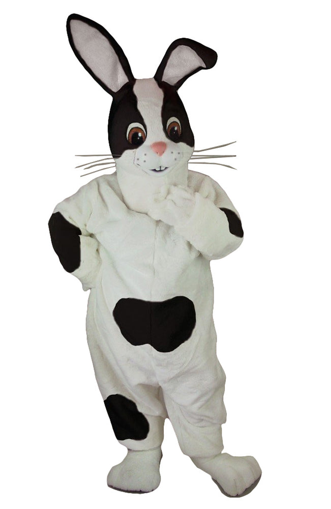 Black & White Rabbit Mascot