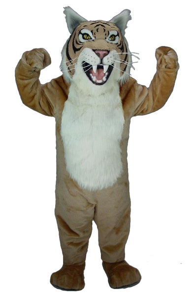 Tan Wildcat Mascot Costume