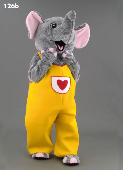 126B Happy Elephant Mascot Costume