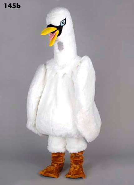 145B White Swan Costume Plush Mascot
