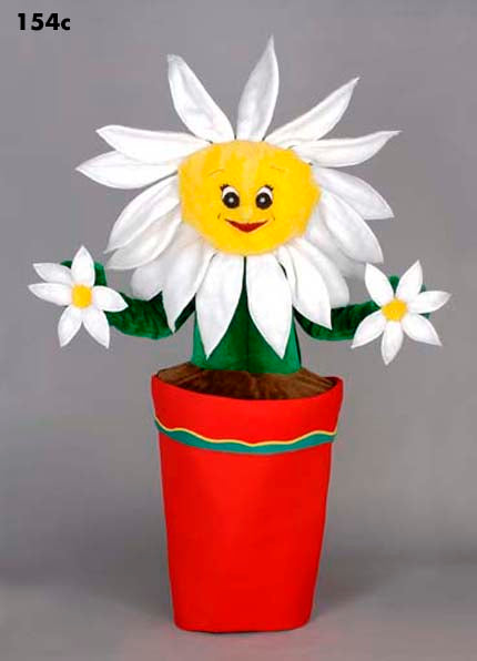 154C Sunflower / Daisy Mascot Costume