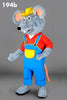 194B Farmer Mouse Mascot Costume