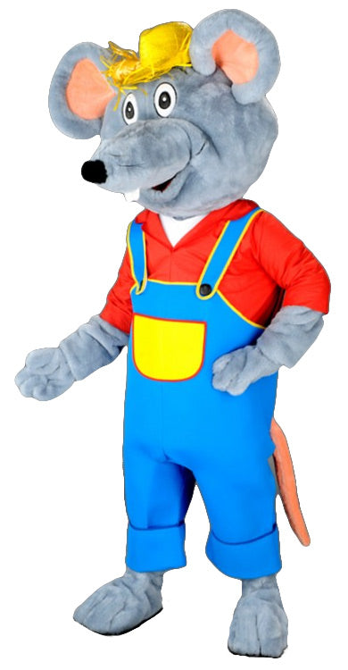 Farmer Mouse Mascot Costume