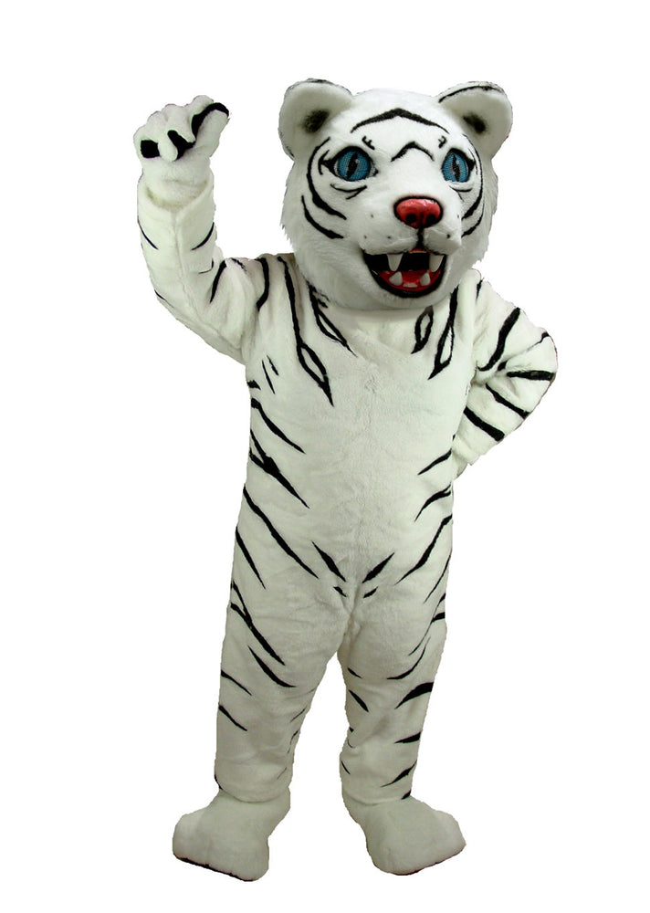 T0011 White Tiger Mascot Costume (Thermolite)