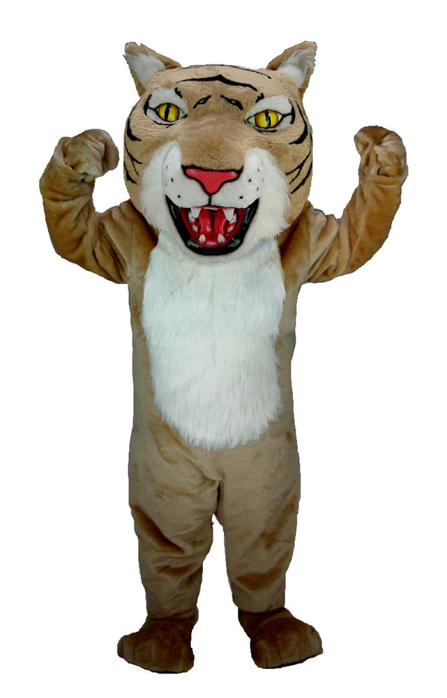T0020 Tan Wildcat Mascot Costume (Thermolite)