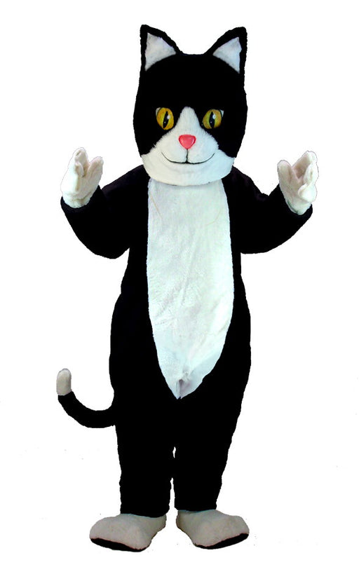 T0039 Black & White Cat Mascot (Thermolite)