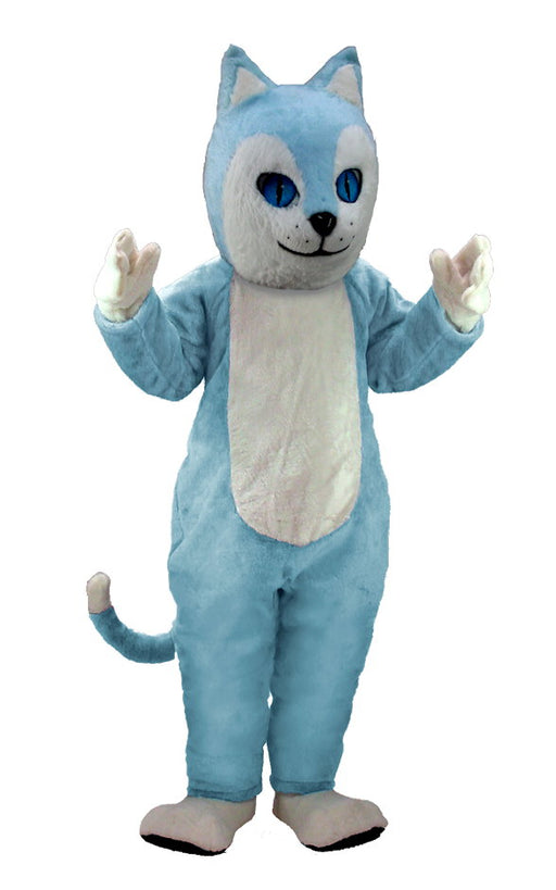 T0040 Blue Cat Mascot Costume (Thermolite)