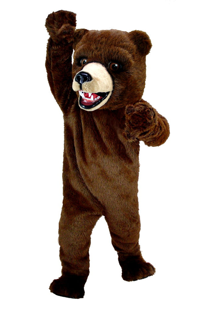 T0042 Kodiak Brown Bear Mascot Thermolite