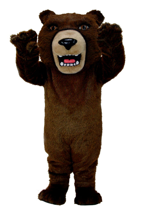 T0043 Brown Grizzly Bear Mascot Thermolite