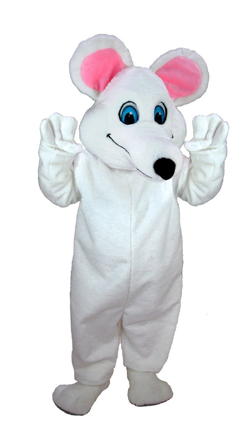 T0067 White Mouse Mascot Costume (Thermolite)