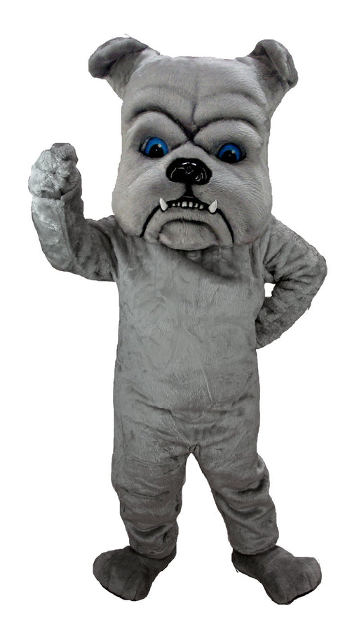 T0071 Grey Bulldog Mascot Costume (Thermolite)