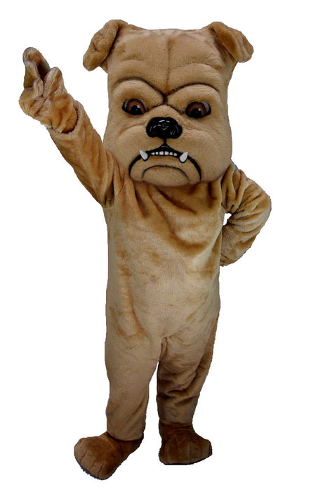 T0072 Tan Bulldog Mascot Costume (Thermolite)