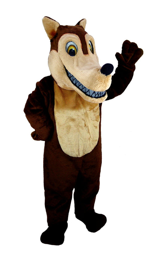 T0106 Brown Wolf Mascot Costume (Thermolite)