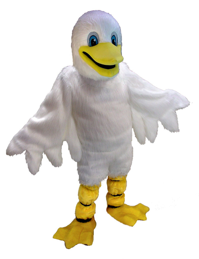 T0133 White Duck Mascot Costume (Thermolite)