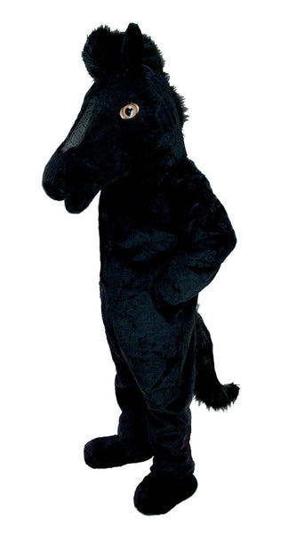 T0168 Black Mustang Horse Mascot Costume (Thermolite)