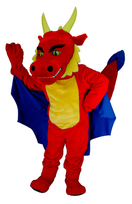 T0213 Red Dragon Mascot Costume (Thermolite)