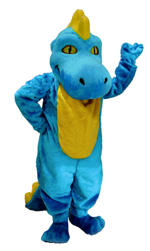 T0214 Light Blue Dinosaur Mascot Costume (Thermolite)