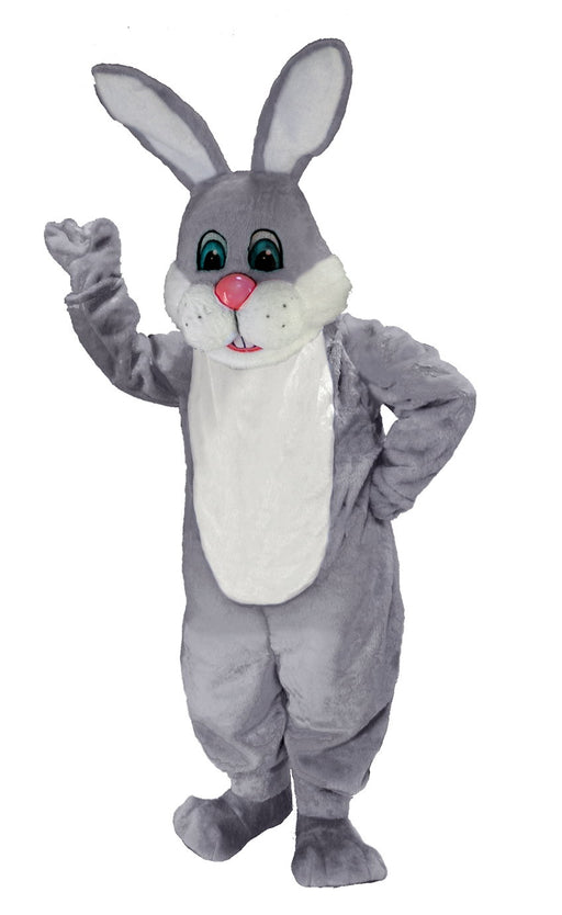 T0237 Grey & White Rabbit Mascot Costume (Thermolite)