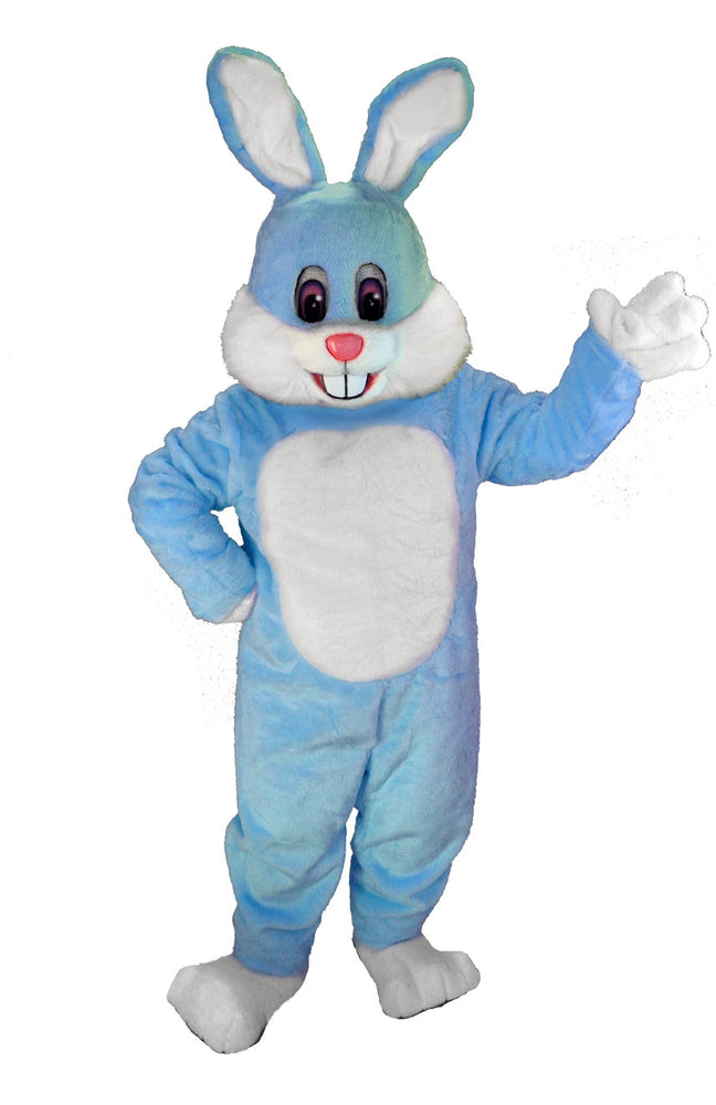T0244 Light Blue Toon Bunny Mascot Costume (Thermolite)
