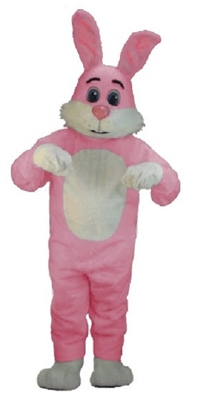 T0253 Pink Bugsy Rabbit Mascot Costume (Thermolite)
