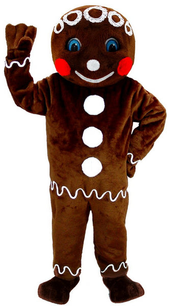 T0267 Mr. Gingerbread Cookie Mascot Costume (Thermolite)